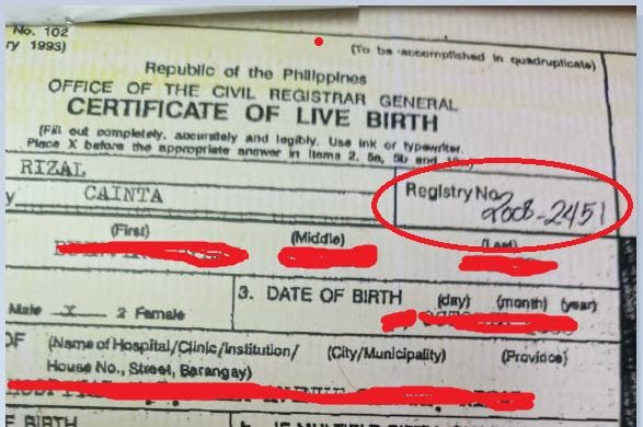 PSA Certificate Number